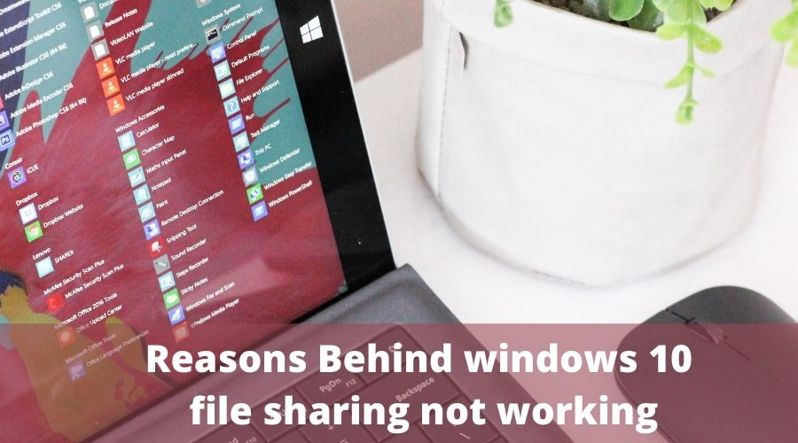Reasons Behind windows 10 file sharing not working