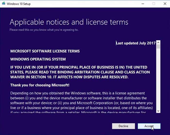 license accept windows