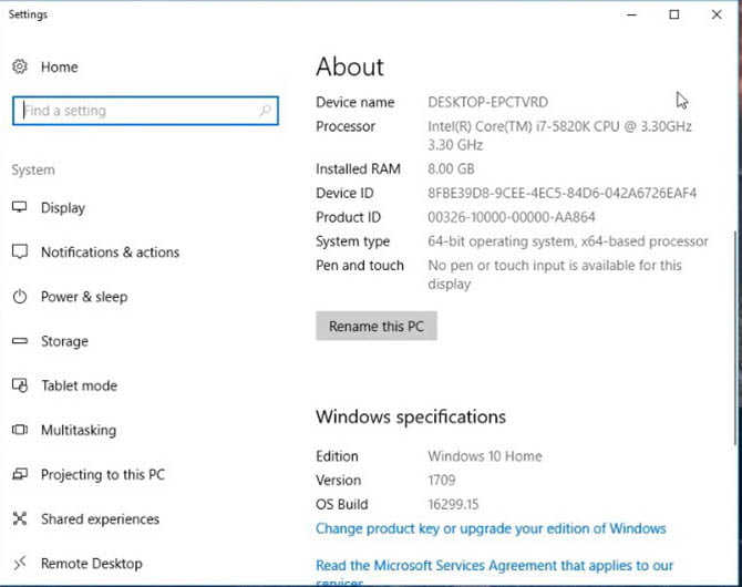 windows 10 install computer