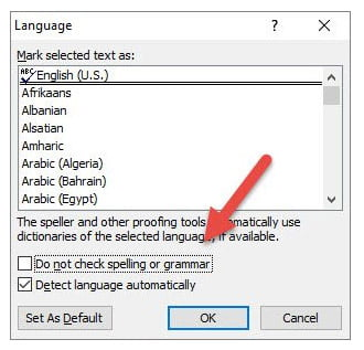 Enable Spell Check for All Documents