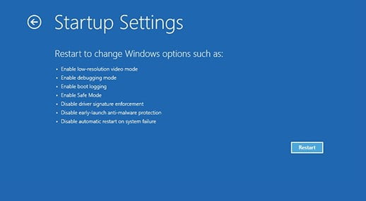 startup setting windows