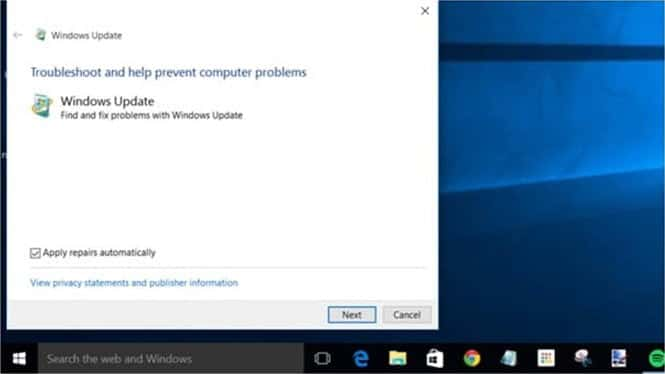 Windows 10 Troubleshooter tool