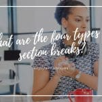What are the four types of section breaks