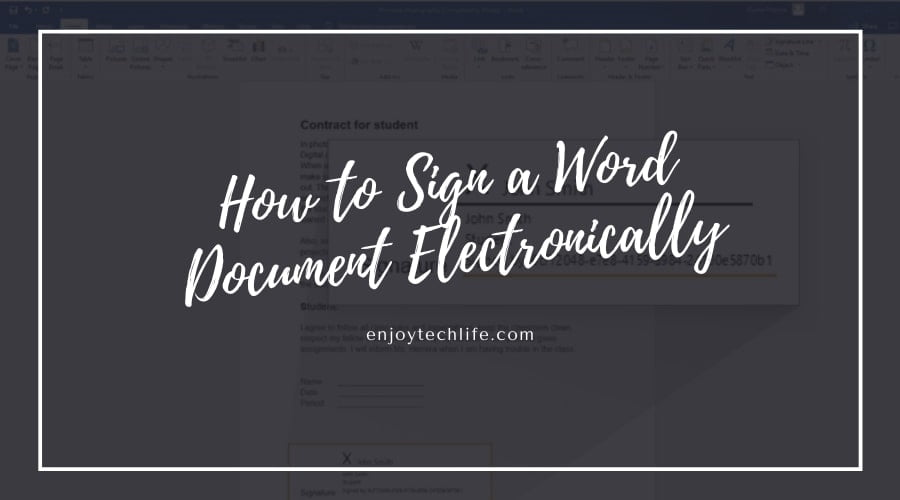 How to Sign a Word Document Electronically