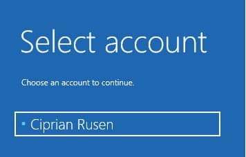 select user account