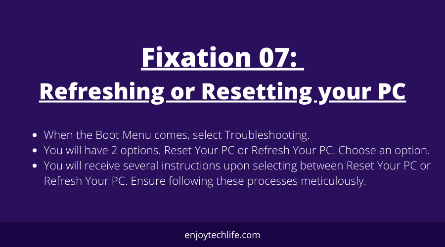 Refreshing or resetting your PC