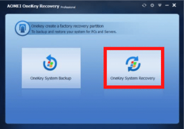 OneKey System Recovery