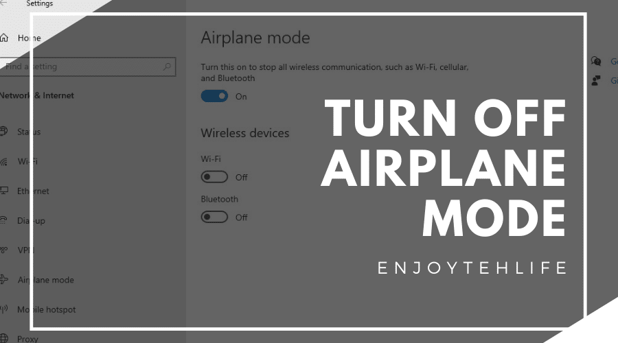 How to Turn Off Airplane Mode on Laptop