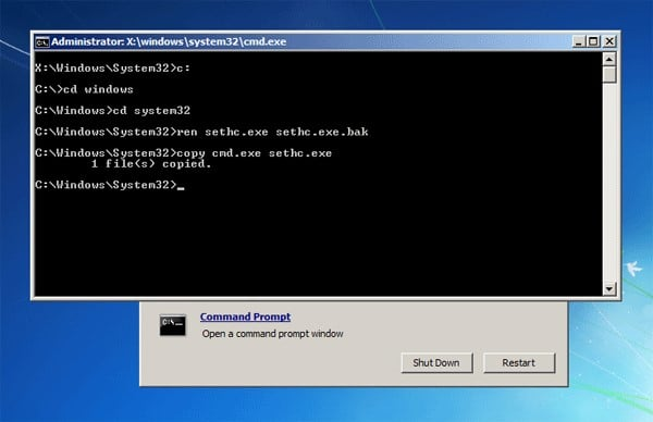 you did not install windows in C drive, replace drive name with C
