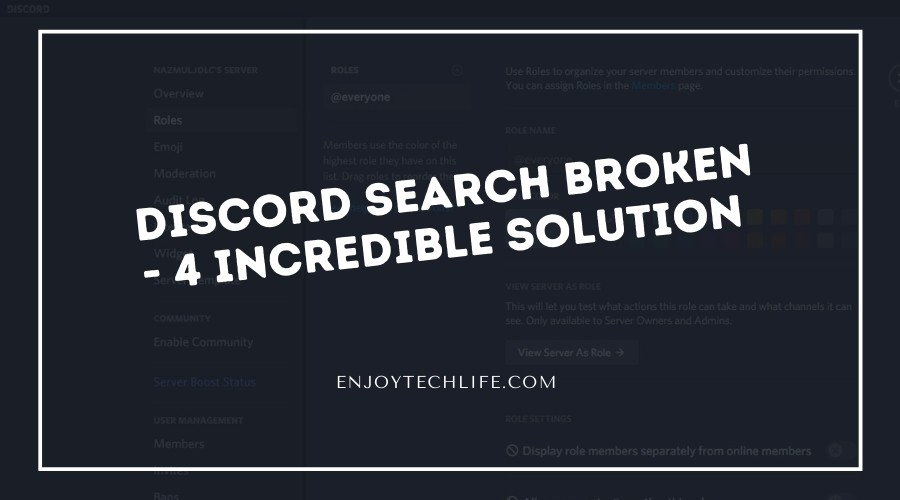 Discord Search Broken