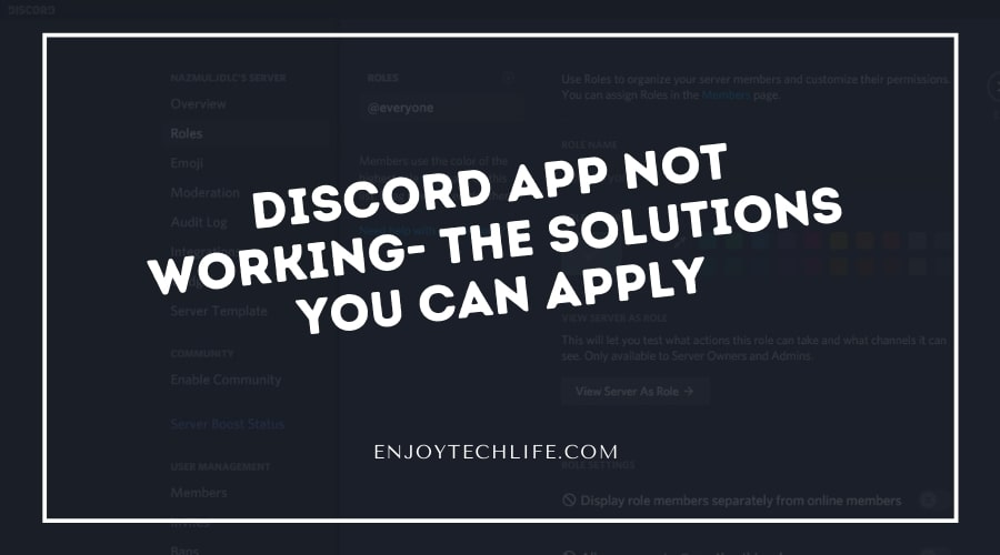 Discord App not Working