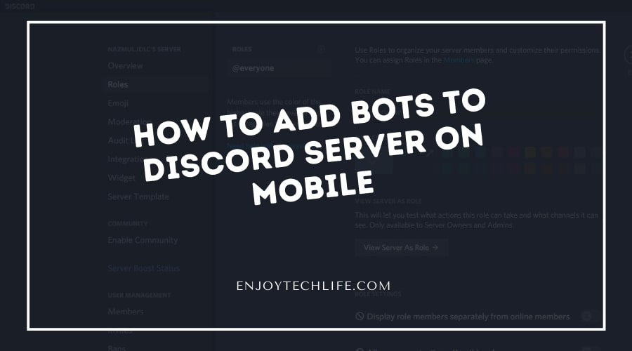 How to Add Bots to Discord Server on Mobile