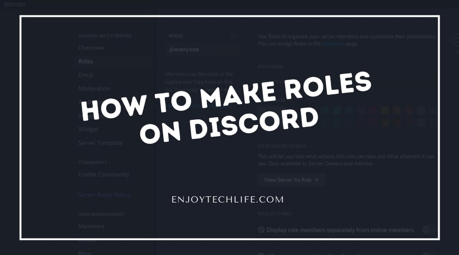 How to Make Roles on Discord