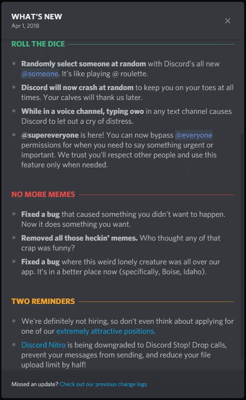 how to update discord on Mac