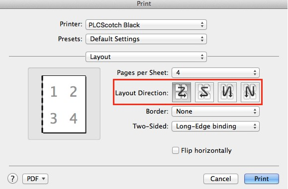 Layout Direction