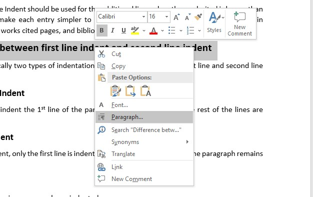 Hanging Indent on Word