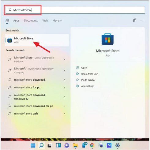 Browse for Microsoft Store