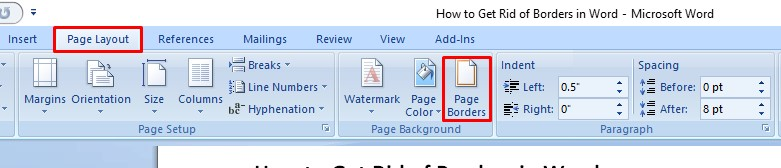 Removing Borders from a Picture