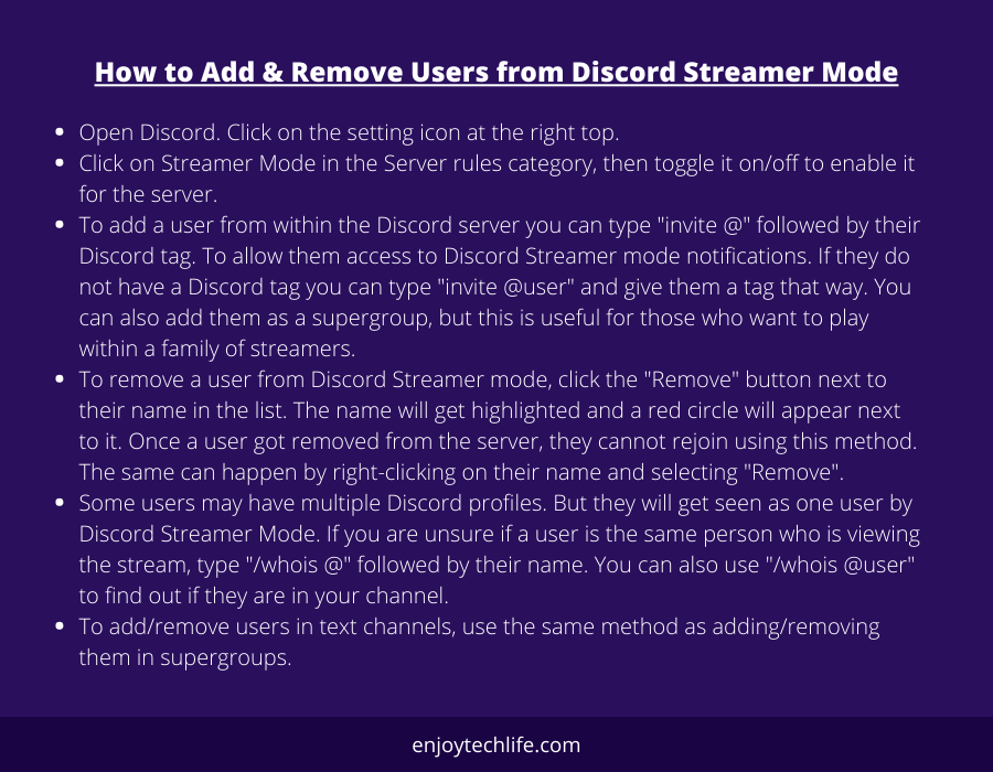How to Add & Remove Users from Discord Streamer Mode