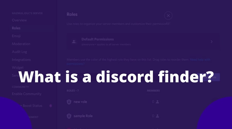 What is a discord finder?