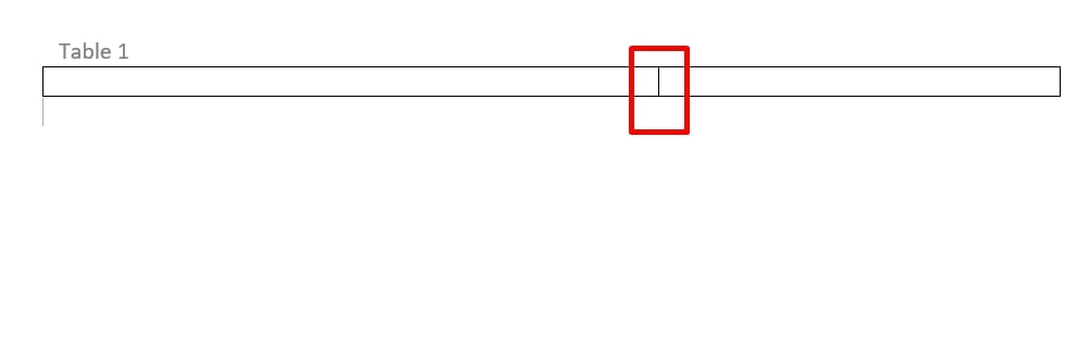 boundary between two columns