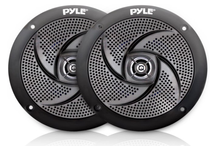 Pair Slim Style Waterproof and Weather Resistant Outdoor Audio Stereo Sound System